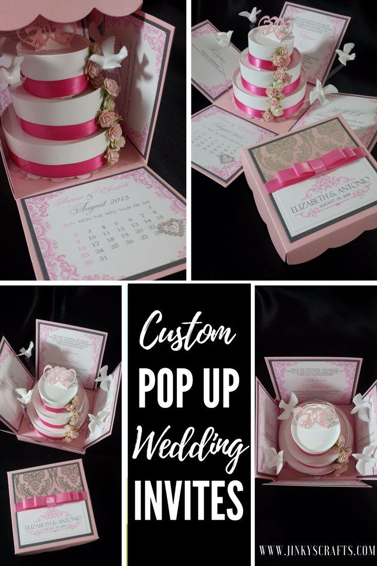 bridal shower invitation ideas craft%0A Custom Exploding Box Invitation Wedding Samples  Ideas For Bridal  ShowerBridal