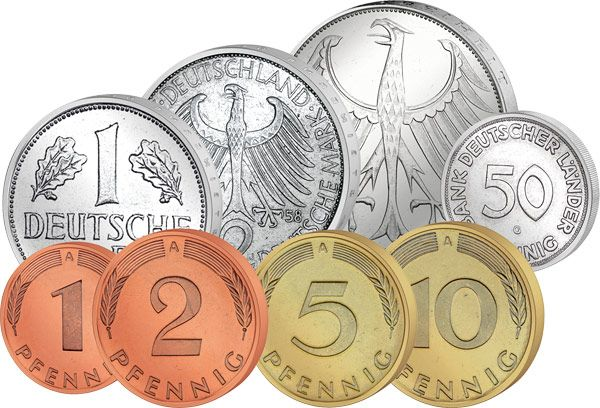 German coins, before the Euro