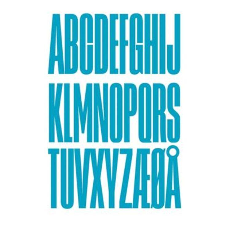 Design Letters træbogstaver, turkis