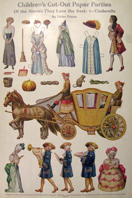 1912 Cinderella Paper Doll Cutouts ~ Helen Pettes