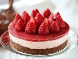 No-Bake Strawberry Cheesecake : Recipes : Cooking Channel