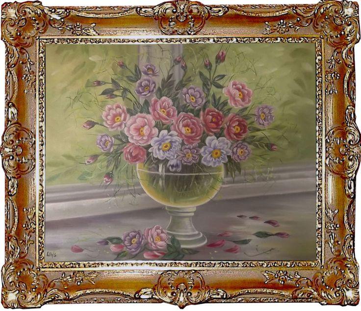 rosen stillleben original malerei l gem lde kunst online. Black Bedroom Furniture Sets. Home Design Ideas