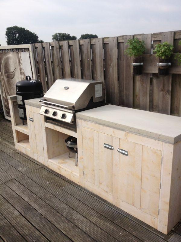 25 beste idee n over buitenkeukens op pinterest achtertuin keuken achtertuinen en - Deco terras zwembad ...