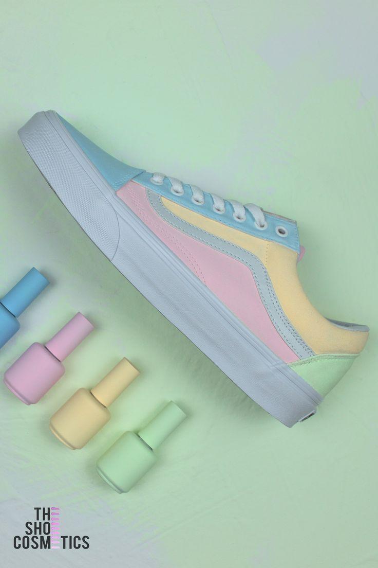 vans chaussures pastel