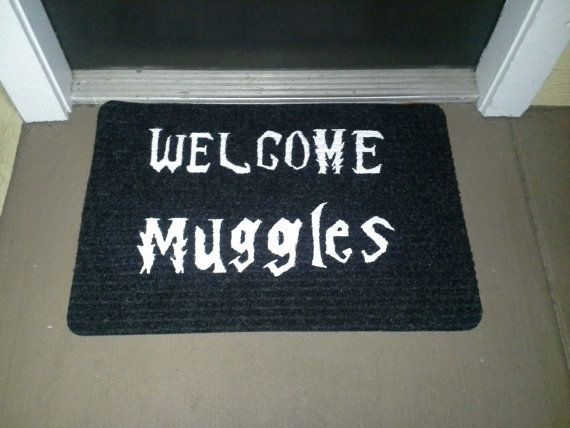 Bienvenido Mat de Muggles por NerdPhrases en Etsy