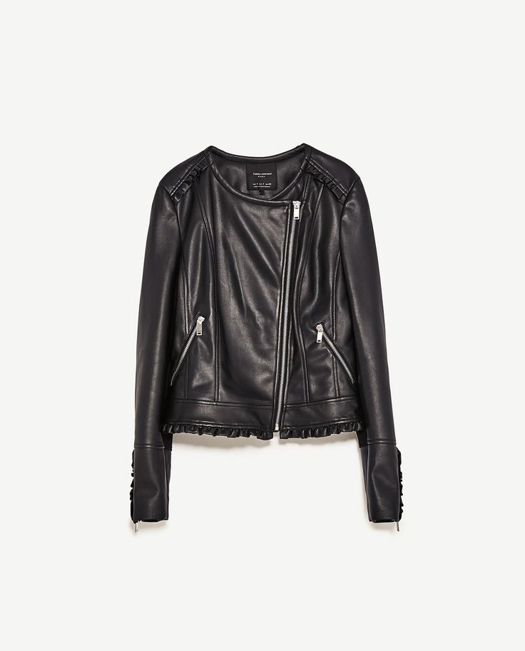 veste en simili cuir noir femme zara les vestes la mode sont populaires partout dans le monde. Black Bedroom Furniture Sets. Home Design Ideas