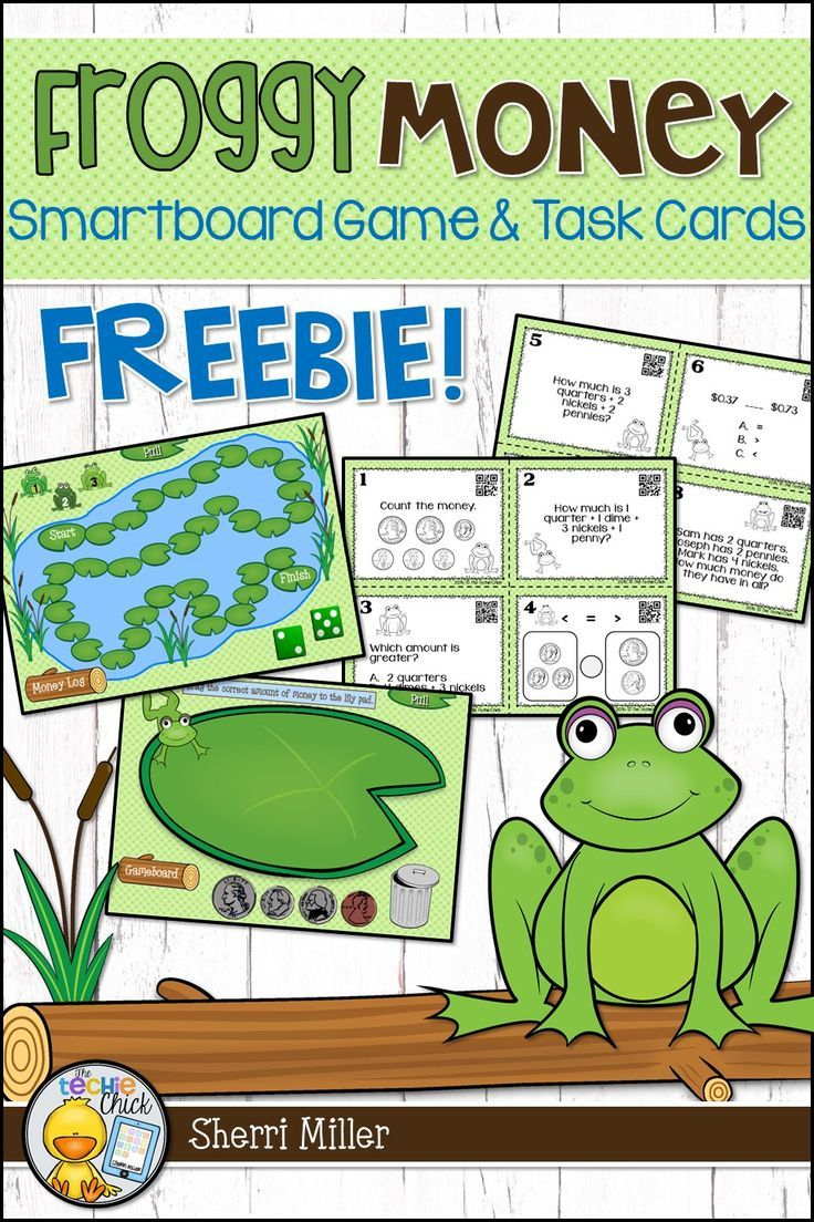 Grab this engaging and fun money FREEBIE for your math lessons!  It includes both a Smartboard game AND task cards on money.  Use the versatile game to count money, write money values, add or subtract money, give change, or compare money amounts. Perfect for the elementary classroom! #tpt #moneylesson #taskcards #thetechiechick