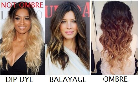 The difference between DipDye, Balayage, and Ombre. There ...