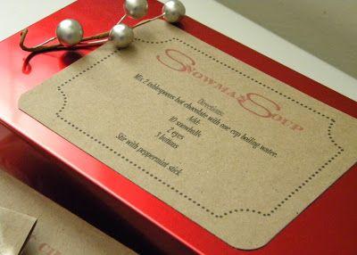 homework: a creative blog: Good Taste: snowman soup gift package