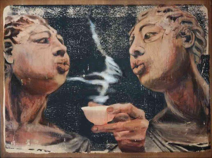 Jelena Tierskich, Tea party, 2016, 83x62 cm - mongollognom