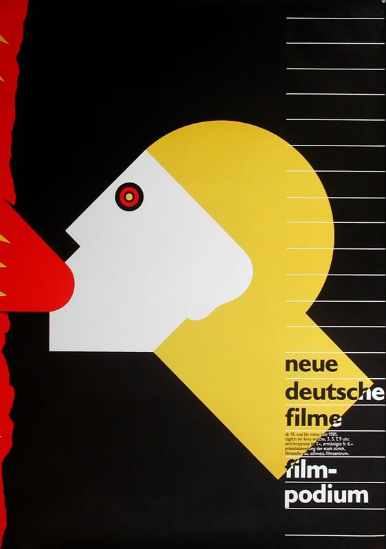 Neue Deutsche Filme - Filmpodium Zurich by Bruhwiler, Paul   Shop original vintage #posters online: www.internationalposter.com