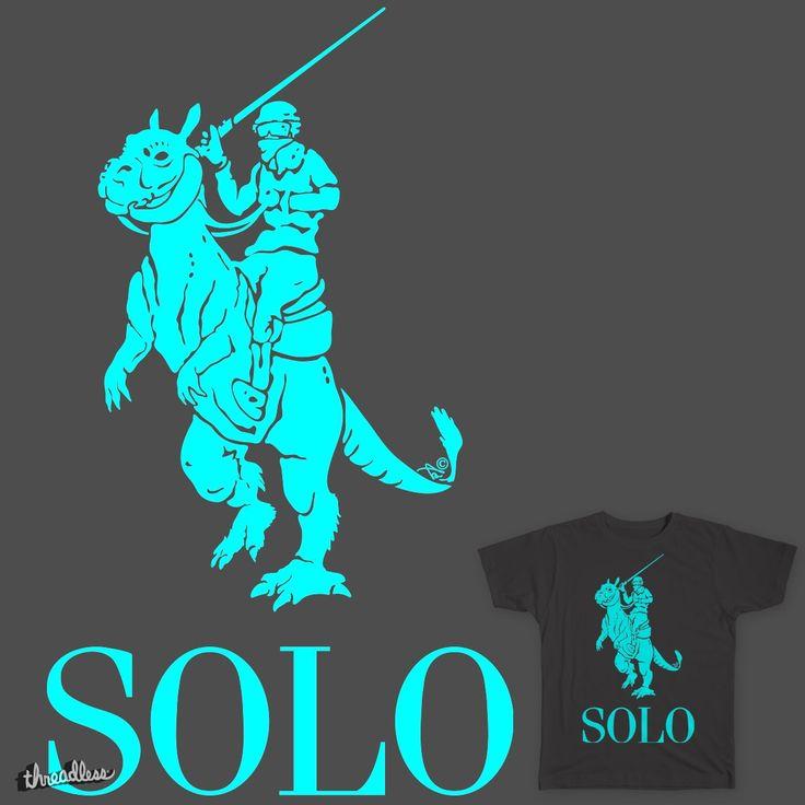 Star Wars fans: vote for SOLO POLO on Threadless! #jedi #starwars #polo #ralphlauren