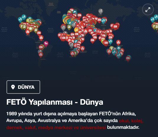 #15Temmuz Saat: 15:30 (Cumartesi)  FETÖ Yapılanması - Dünya  1989 yılında yurt dışına açılmaya başlayan FETÖ'nün Afrika, Avrupa, Asya, Avustralya ve Amerika'da çok sayıda okul, kolej, dernek, vakıf, medya merkezi ve üniversitesi bulunmaktadır.