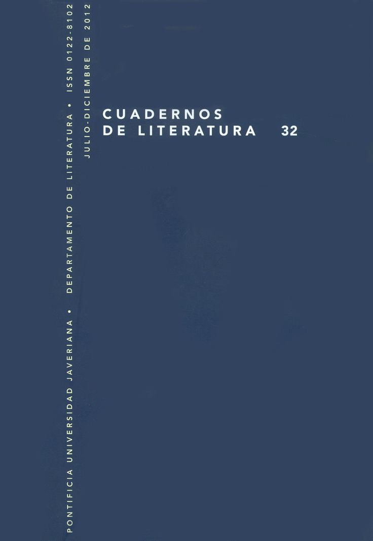 Cuadernos de Literatura 32 http://revistas.javeriana.edu.co/index.php/cualit/issue/view/400
