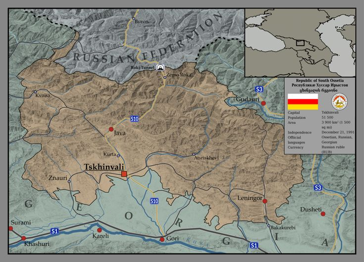 South Ossetia Map