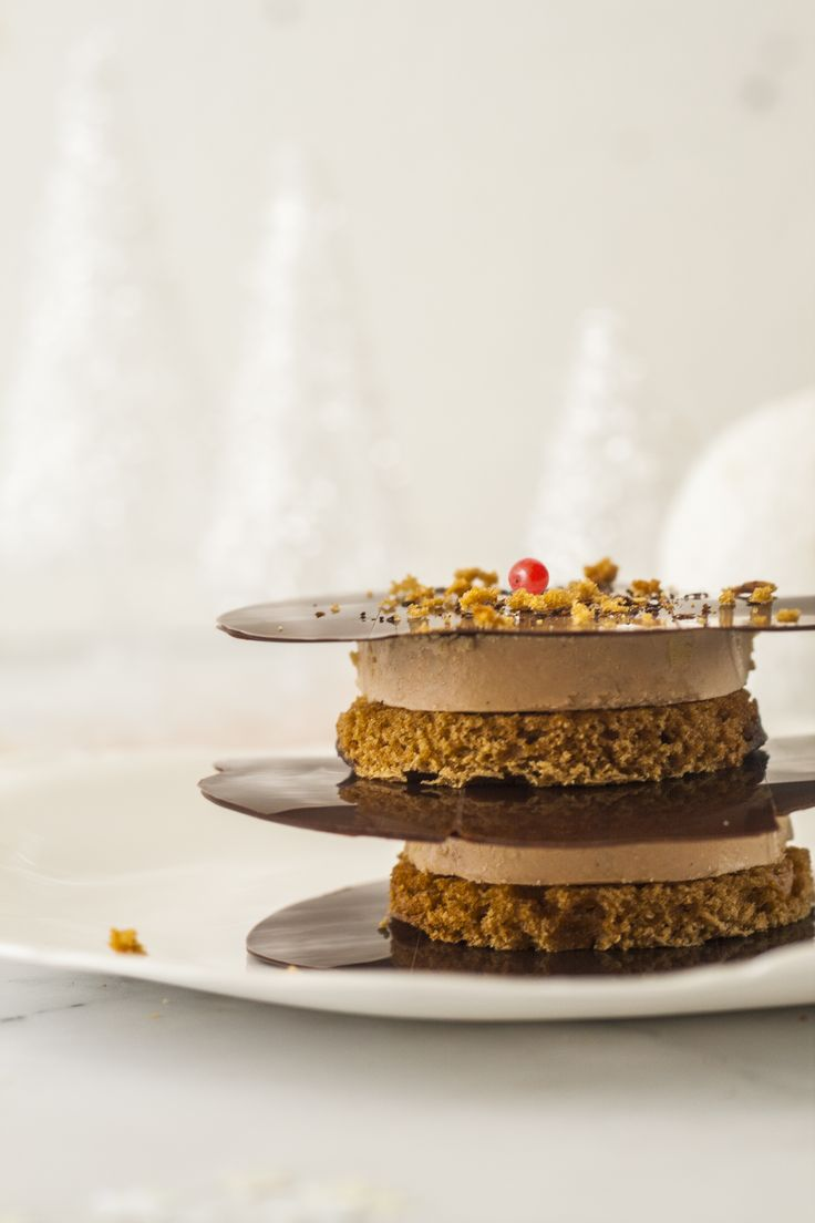 Foie Gras and Gingerbread Millefeuille with Chocolate