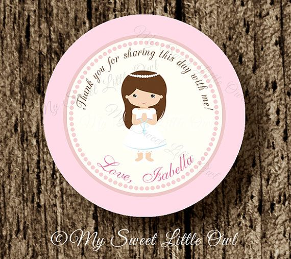 First communion label First communion by MySweetLittleOwl