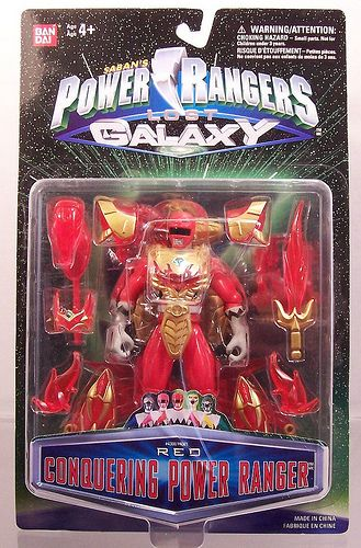 Power Rangers Lost Galaxy Conquering Red Ranger figure