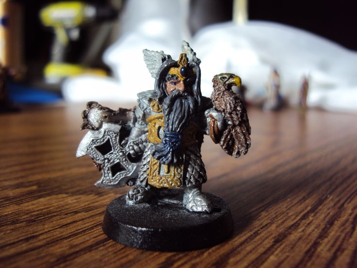 Dwarf with an eagle figure that I painted.  He is regal looking.