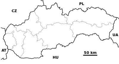 Slovakia - outline map.svg