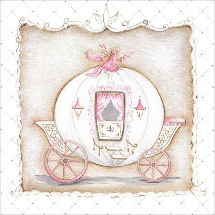 Little Princess Carriage I Canvas Wall Art