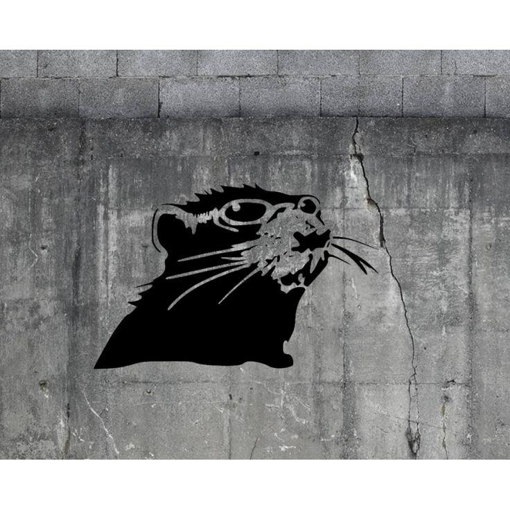 Banksy Sun in the Shade Rat reusable stencil