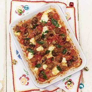 Jamie Oliver's meatballs; Recept - Jamies prachtige gehaktballetjes met kaas uit de oven - Allerhande
