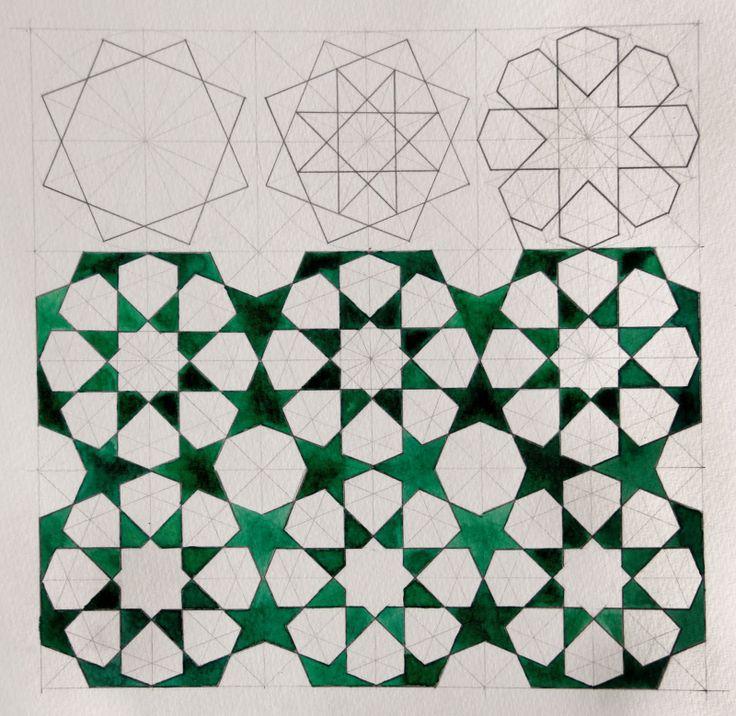Islamic design repeating star pattern