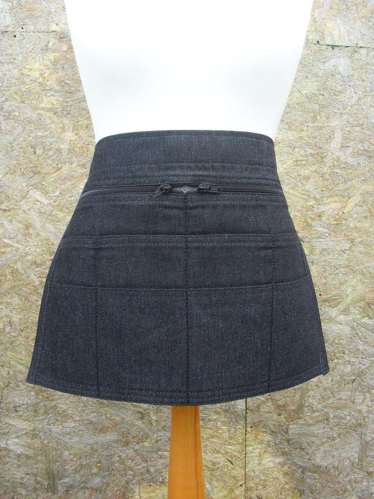 10 pocket Black Denim Craft apron. Gardening apron. Barista apron. Cafe apron. Server Apron. Teacher apron. Bartender. Item No. LDC0600 by LDCcreations on Etsy