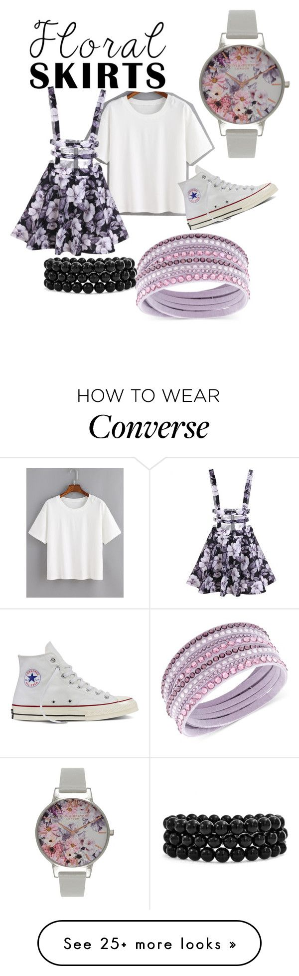 """Untitled #106"" by musicjay on Polyvore featuring Swarovski, Olivia Burton, Converse, Bling Jewelry and Floralskirts"