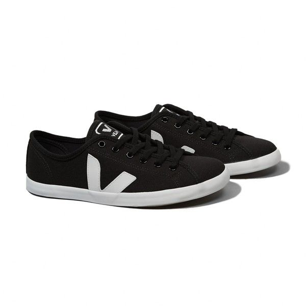 Abercrombie & Fitch Veja Taua Sneaker (3,735 PHP) via Polyvore featuring shoes, sneakers, black, abercrombie & fitch, black sneakers, black shoes, platform shoes and black platform shoes