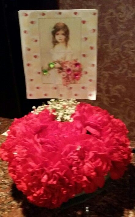 Valentine flowers by Flowers and Fascinations at Schuler's restaurant in Marshall, MI