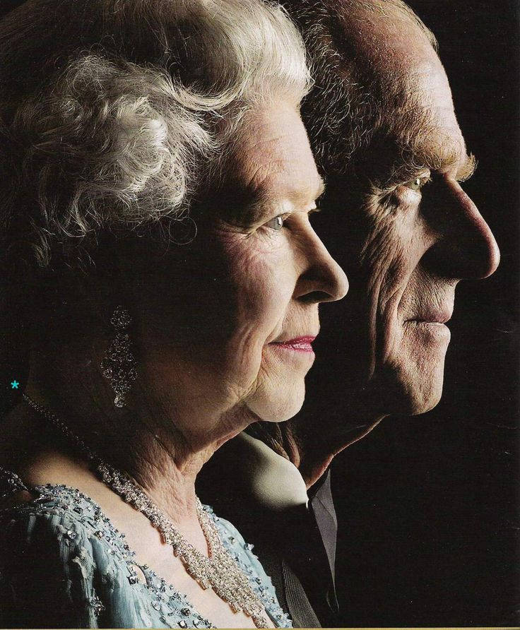 Queen Elizabeth & Prince Philip, very cool picture. I always love these layered profile shots. Wonder who took this one?