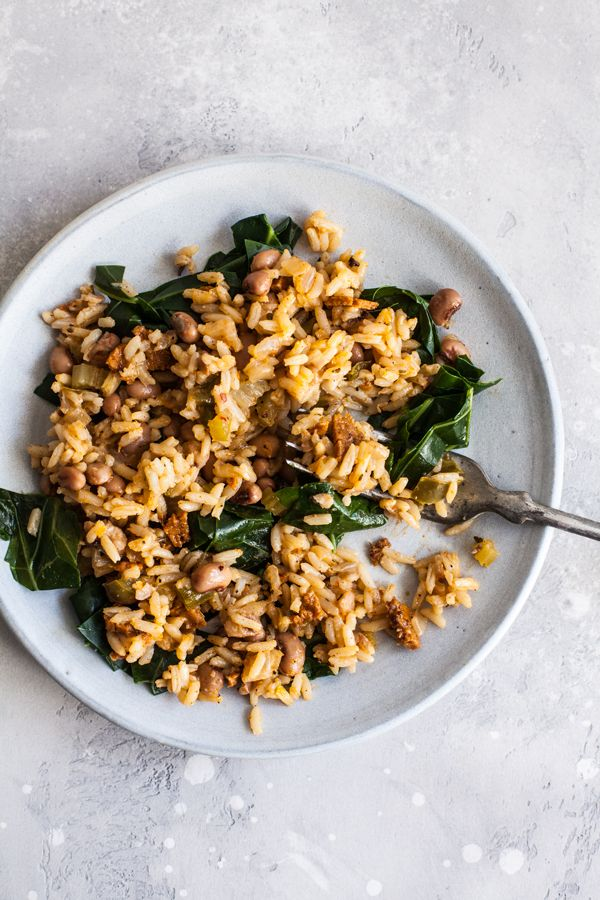 This dish of vegan dirty rice & black-eyed peas is fast, flavorful, and a versatile side dish for simple suppers, bowls, burritos, and more.