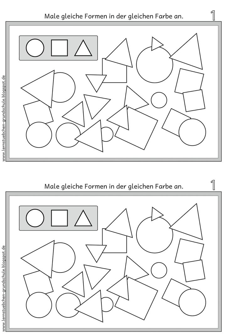 Lernstübchen: GEO Formen gleich anmalen