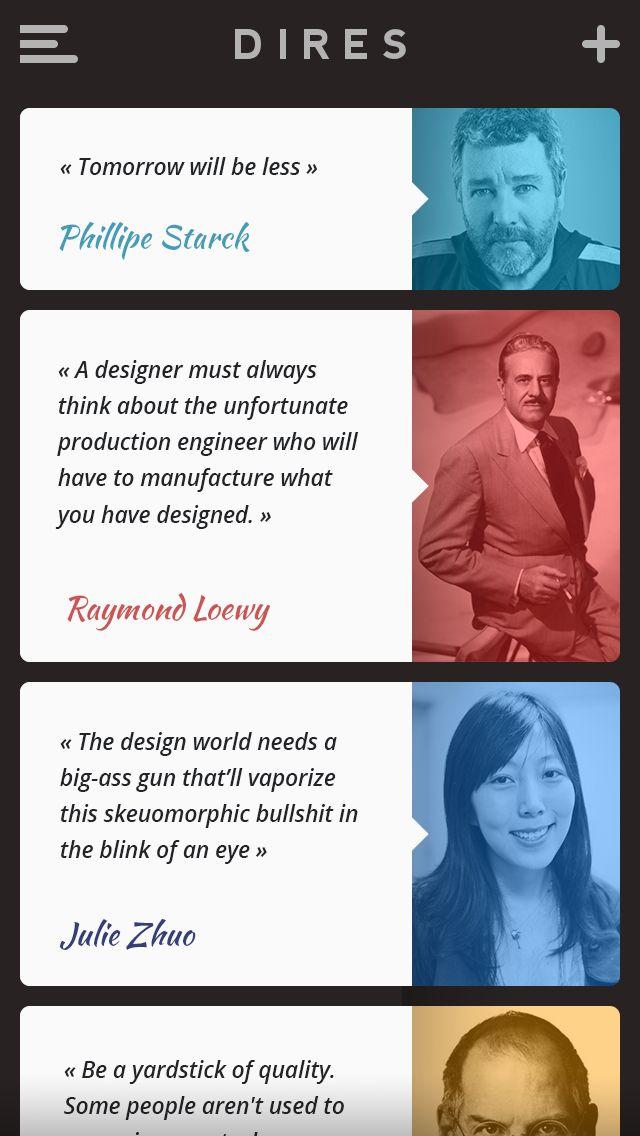 Designer's quotes app