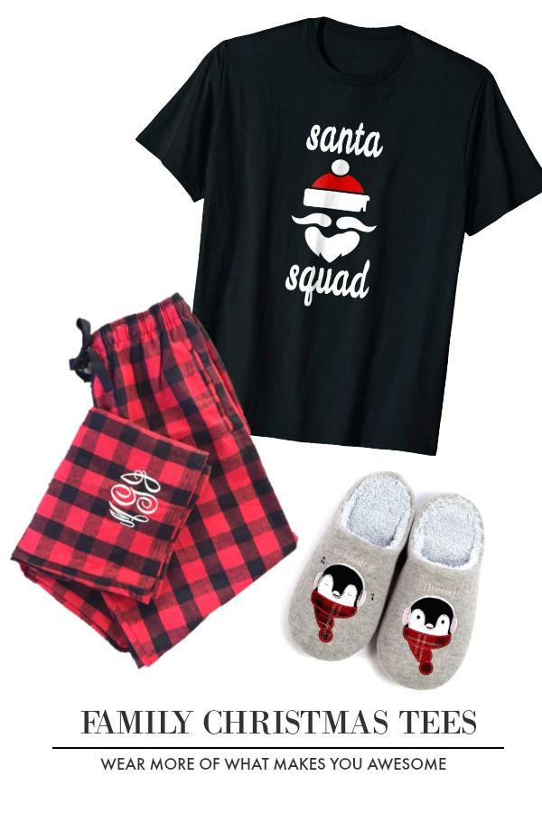 a8a89fd2be82f Family Christmas Pajama Shirts Santa Squad Shirt Cool Christmas ...