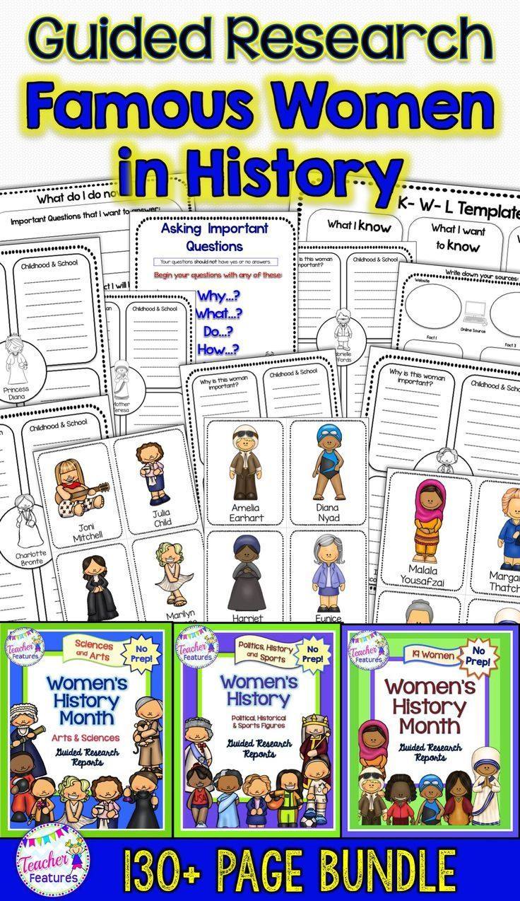 Women S History Month Research Project Template Biography
