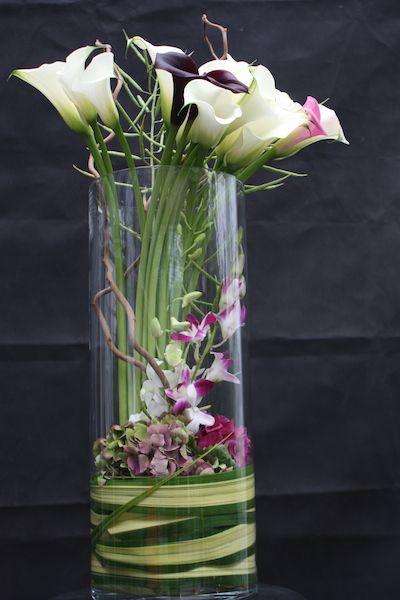 Bouquet de fleurs composition colza arum hortensia orchid e fleurs p - Composition de bouquet ...