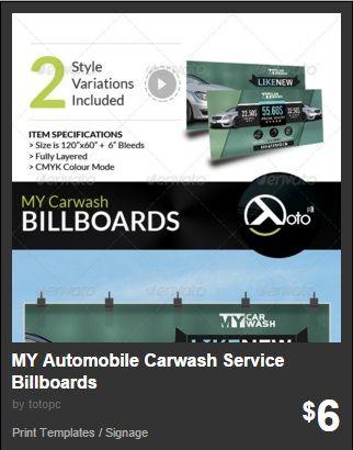 MY Automobile Carwash Service Billboards