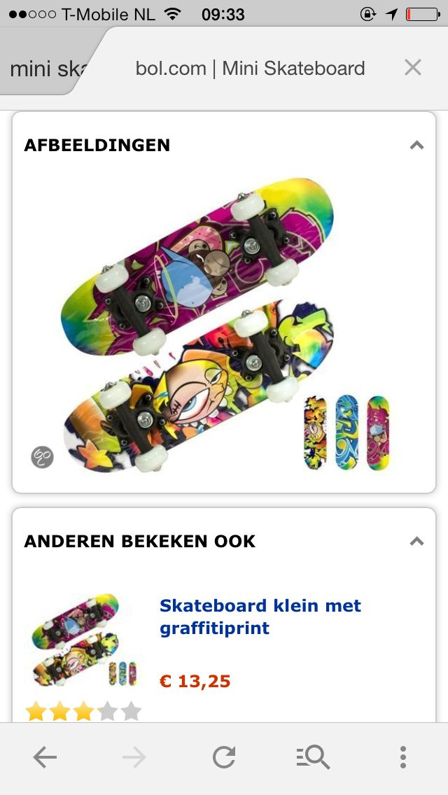 Skateboard planken!