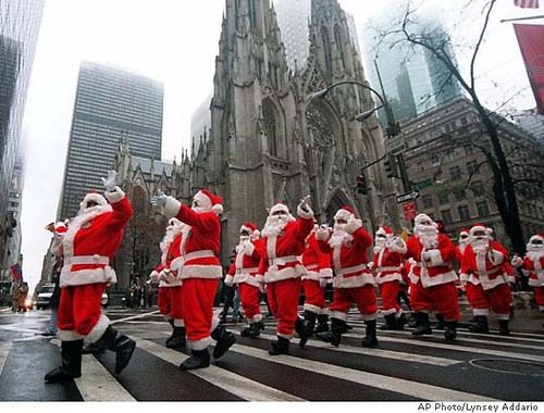 Santa Con, annual event held in NYC