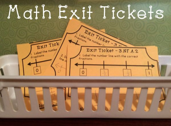 Math Exit Tickets for Common Core 3rd Grade Math - I love to quickly sort these and then plan my small group activities by who has mastered the skill and who needs more help.