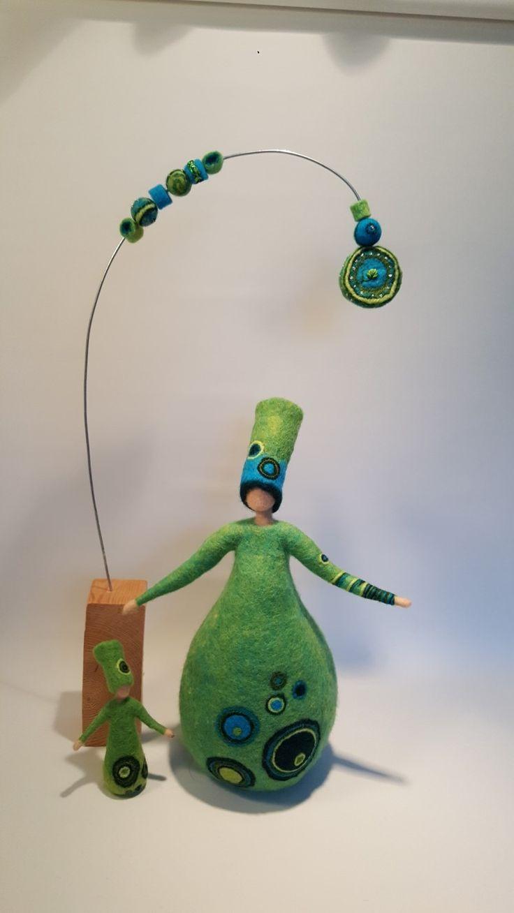 'Green made by Paulien Sijtsema-Poort. www.wolinhout.nl