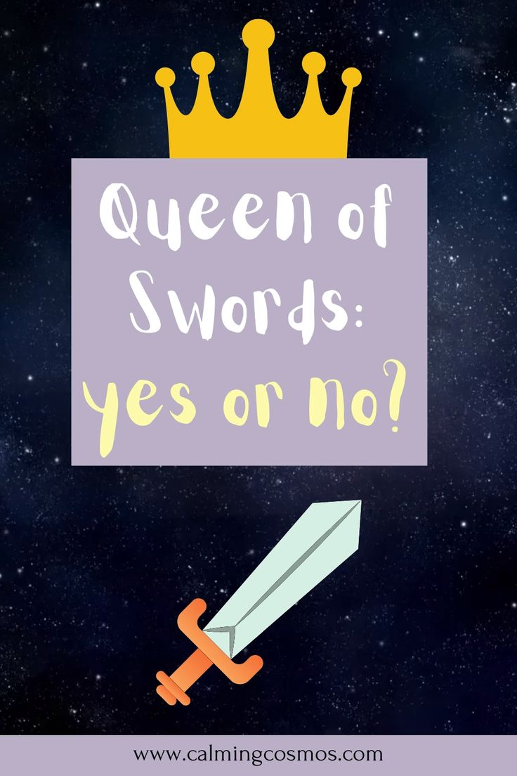Is the queen of swords a yes or no card tarot card