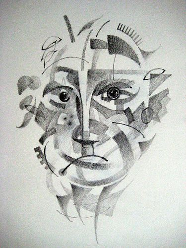 Abstract Face Line Drawing : Best images about art class abstract faces on pinterest