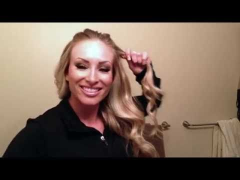 How to: Rodeo Queen Hair - YouTube  Fabulous explanation by a Miss rodeo!