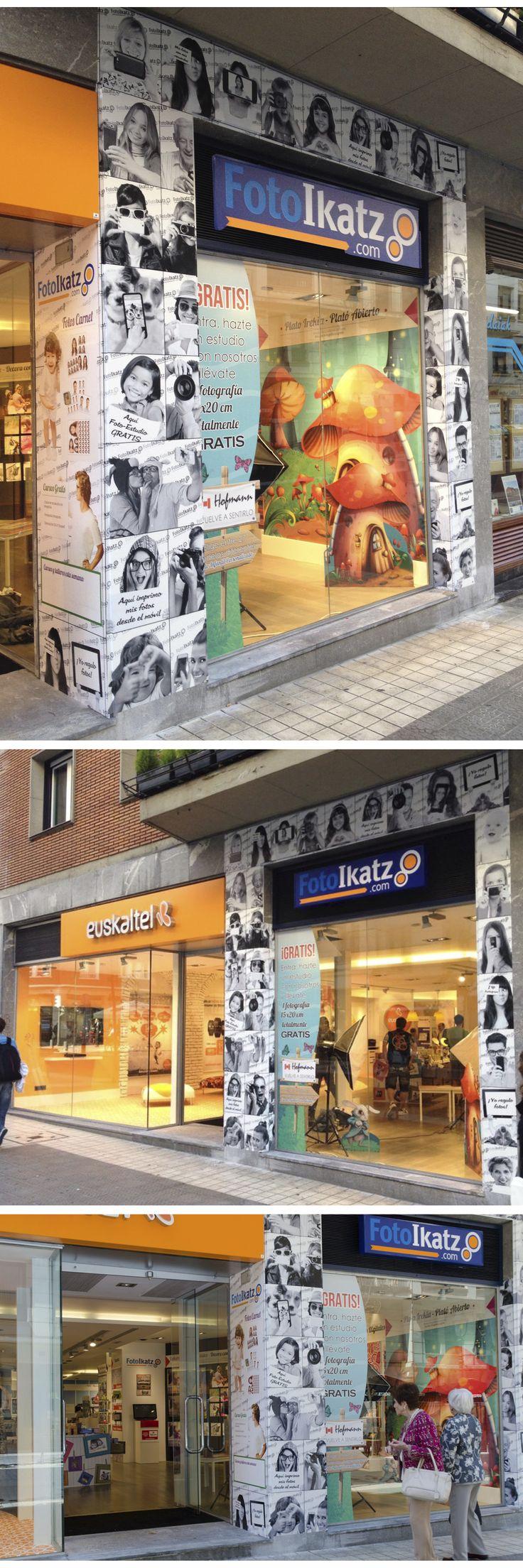 Exterior de nuestra nueva tienda en Indautxu, Bilbao. Un nuevo concepto como tienda de fotografia y telefonía.