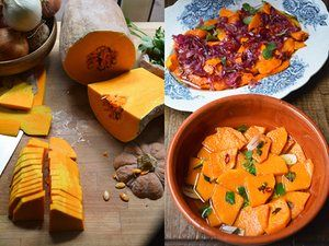 Sweet-and-sour pumpkin dishes from Sicily and Rome style.