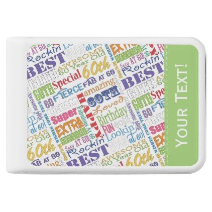 60th Birthday Party Special Personalized Monogram Power Bank - birthday gifts party celebration custom gift ideas diy